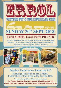 Vintage Toy and Collectables Fair @ Errol Showground